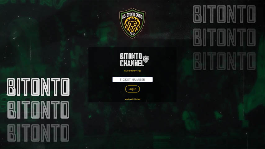 Bitonto Channel - Login pagina di accesso